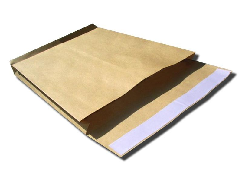 Envelopes with<br> block bottom, C4<br>BROWN (250 pcs)