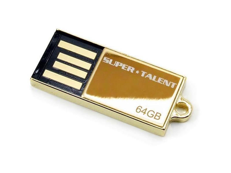USB FlashDrive<br> 64GB Super-Talent<br>Pico-C *24K GOLD*