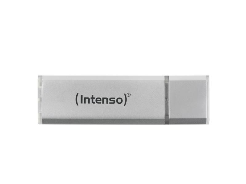 USB Flash Drive<br> 8GB Intenso Alu<br>Line Silver Bliste