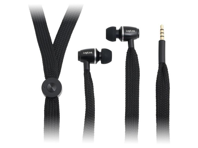 LogiLink String<br> In-Ear Headphones<br>Black (HS0025)