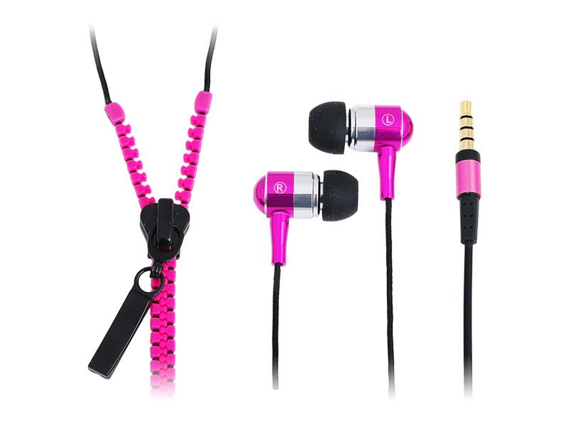 LogiLink Stereo<br> In-Ear Headset<br>Zipper Pink (HS0022