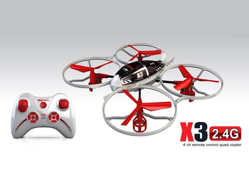 Quad-Helicóptero<br> SYMA X3 2.4G 4<br>canales con girósc