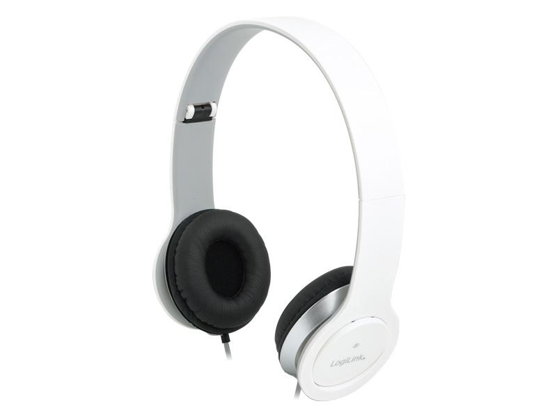 LogiLink Stereo<br> Headset High<br> Quality White ...