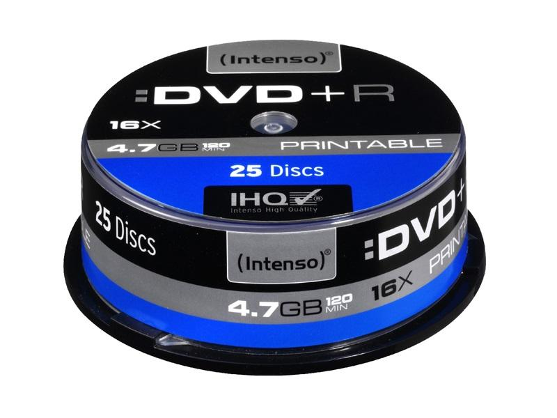 Intenso DVD + R<br> Printable 4.7GB<br>16x Speed ​​- 25pc