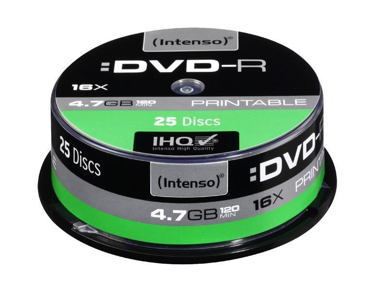 Intenso DVD-R<br> Printable 4.7GB<br>16x Speed - 25pcs