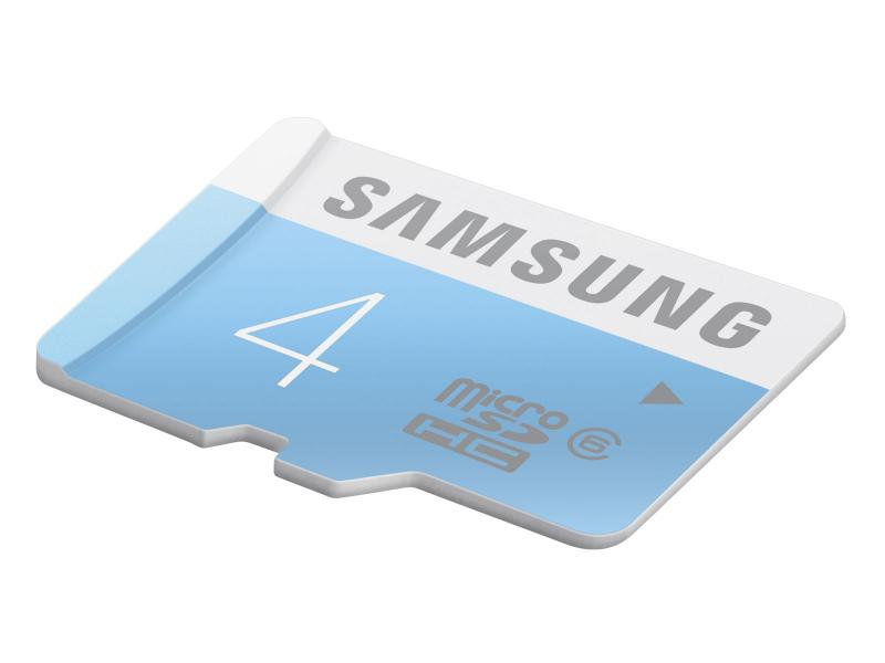 MicroSDHC 4GB<br> Samsung CL6 + SD<br>Adapter Bulk / Mini