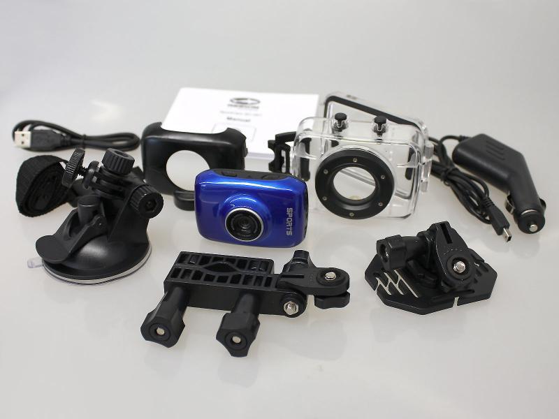 Reekin Sportcam<br> Action Camcorder<br>(Blue)