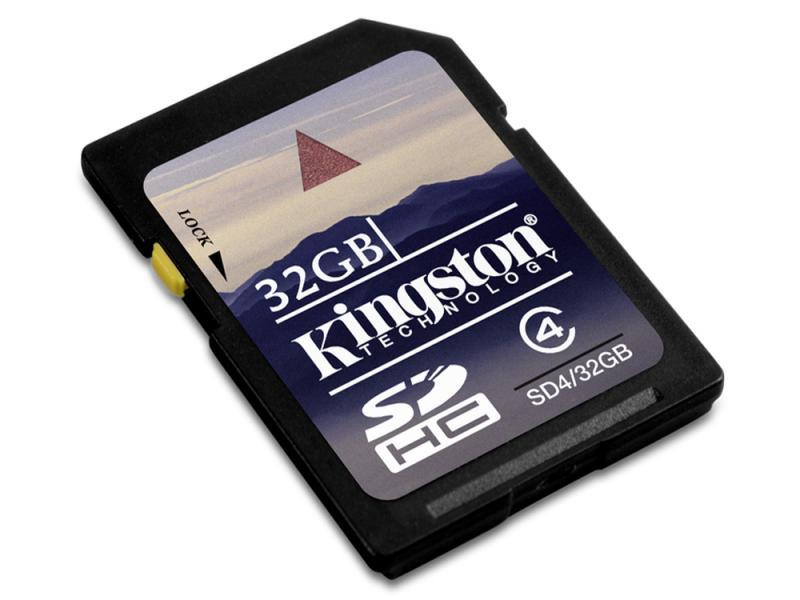 SDHC 32GB Kingston<br>Blister (Class 4)