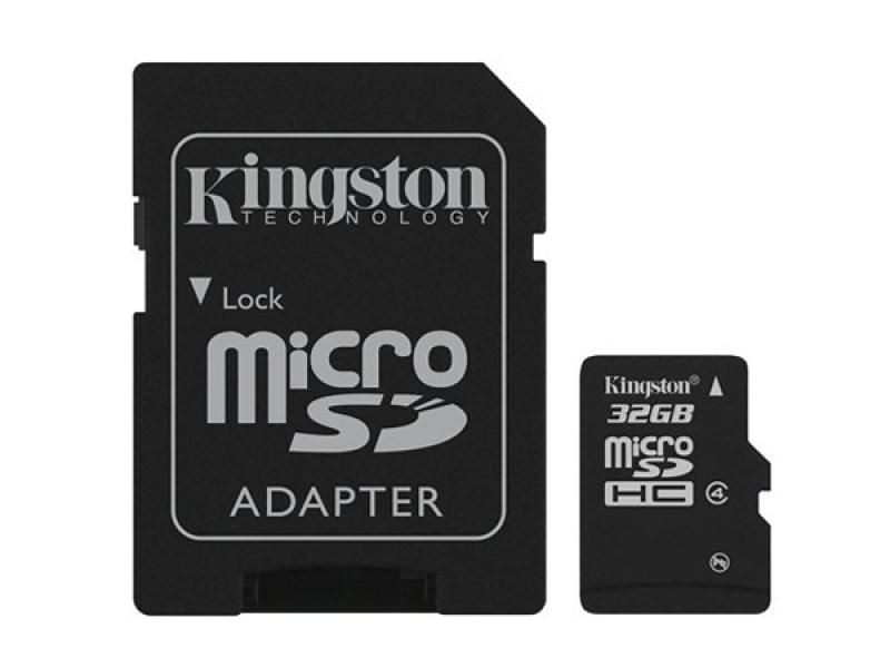 MicroSDHC 32GB<br>Kingston CL4 Blister