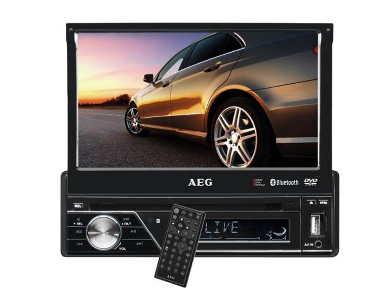 AEG Car DVD Player<br> 7 inch LCD touch<br>screen Bluetoo