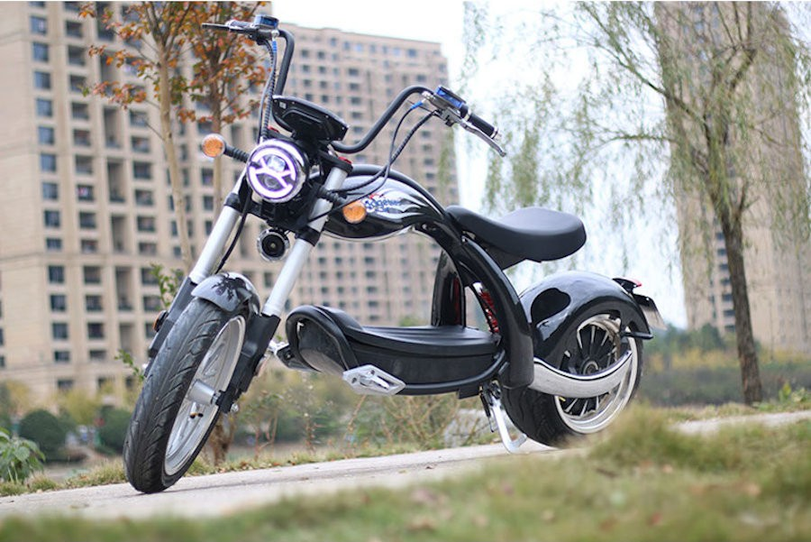Elektro Roller Coco Bike E-Chopper mit Straßenzulassung bis zu 50 Km//h in Rot