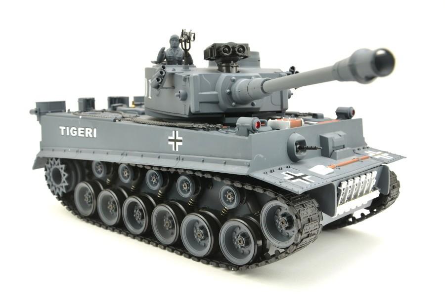 rc panzer german tiger i grau 1 20 mit schuss und sound. Black Bedroom Furniture Sets. Home Design Ideas