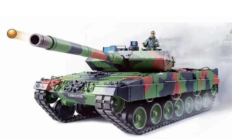 rc panzer german leopard 2a6 heng long 1 16 mit rauch. Black Bedroom Furniture Sets. Home Design Ideas
