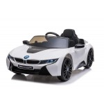 "Kinder Elektroauto, Kinderfahrzeug ""BMW I8"" - lizenziert - 12V - 2,4Ghz Ferngsteuert, MP3, Ledersitz+EVA"