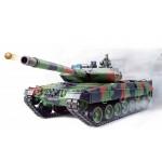 """RC Panzer """"German Leopard 2A6"""" Heng Long 1:16 mit Rauch&Sound und Metallgetriebe (Stahl) -2,4Ghz V6.0"""