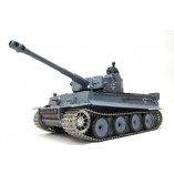 "RC Panzer ""German Tiger I"" Heng Long 1:16 Grau, Rauch&Sound und 2,4Ghz Fernsteuerung- Pro Modell"