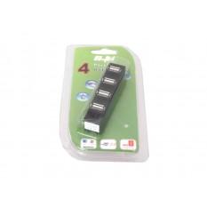USB HUB 4-Port USB 2.0 Schwarz