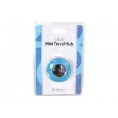 USB HUB 4-Port USB 2.0 Mini Travel HUB Blau