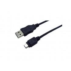 LogiLink USB 2.0 Verlängerung A zu Mini 5-Pin 1,8m schwarz (CU0014)