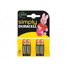 Batterie Duracell Simply MN2400/LR03 Micro AAA (4 St.)