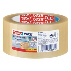 Tesa Pack Ultra Strong PVC 50mm/66 Meter (57176 Transparent)