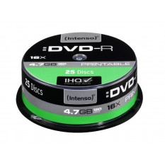 Intenso DVD-R bedruckbar 4,7 GB 16x Speed - 25stk Cake Box