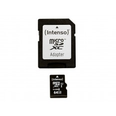 MicroSDXC 64GB Intenso Premium CL10 UHS-I +Adapter Blister