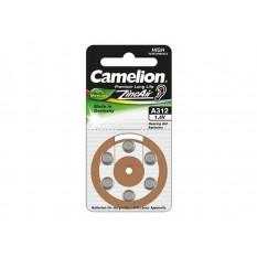 Hörgeräte Batterie Camelion Zink-Luft Zelle A312 0% Mercury/Hg Braun (6 St.)