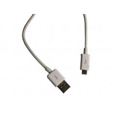 Micro-USB Ladekabel für alle micro-USB Geräte weiss