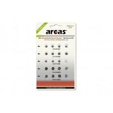 Batterie Arcas Knopfzellen-Set AG1-AG13 0% Mercury/Hg (20 Stk)