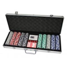500 Poker Chips mit Alukoffer (11,5 Gramm)