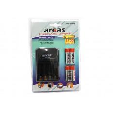 Arcas Ladegerät ARC-2009 und 4x AA Akkus 2700