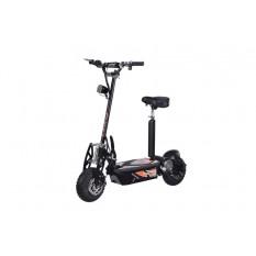 E-Scooter bis zu 35 km/h schnell - mit 25km Reichweite, 36V | 1000W | 12AH Akku, mit Sitz, Bremsen und Lichter -C001