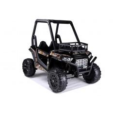 """Kinderfahrzeug - Elektro Auto """"Buggy 360"""" - 2x 12V7AH Akku,2 Motoren, Ledersitz, 2 Sitzer - 2,4Ghz +MP3 -Schwarz"""