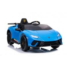 """Elektro Kinderauto """"Lamborghini Huracan"""" - lizenziert - 12V Akku, 2 Motoren- 2,4Ghz Fernsteuerung, MP3, Ledersitz+EVA"""