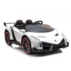 """Kinderfahrzeug - Elektro Auto """"Lamborghini Veneno"""" - lizenziert - 12V10AH, 4 Motoren- 2,4Ghz Fernsteuerung, MP3, Ledersitz+EVA+Allrad+2 Sitzer"""