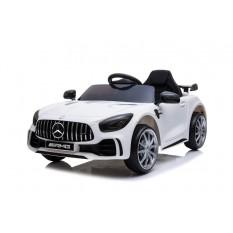 "Kinderfahrzeug - Elektro Auto ""Mercedes GT R"" - lizenziert - 12V4,5AH, 2 Motoren- 2,4Ghz Fernsteuerung, MP3, Ledersitz+EVA"