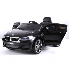 "Kinderfahrzeug - Elektro Auto ""BMW 6GT"" - lizenziert - 12V, 2 Motoren+ 2,4Ghz+ Ledersitz+EVA"