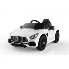 "Kinderfahrzeug - Elektro Auto ""Mercedes AMG GT"" - lizenziert - 12V, 2 Motoren- 2,4Ghz, MP3, Ledersitz+EVA"