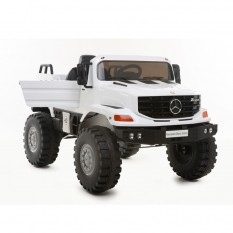 "Kinderfahrzeug - Elektro Auto ""Mercedes Zetros"" - Lizenziert - 12V7AH Akku,2 Motoren- 2,4Ghz Fernsteuerung, MP3+Ledersitz"