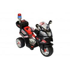 "Elektro Kindermotorrad - ""Police Design -015""- 6V Akku - Schwarz-Rot"