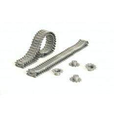 Aufrüstungssatz für Panzer: Metallkettenset für Heng Long Walker Bulldog 3839