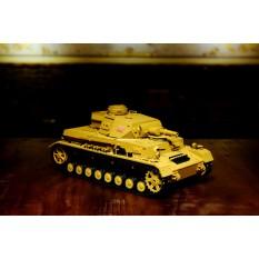 """RC Panzer """"Kampfwagen IV Ausf.F-1"""" Heng Long 1:16 Sandfarbe mit Rauch und Sound, Metallgetriebe und 2,4Ghz Fernsteuerung"""