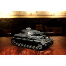 """RC Panzer """"Kampfwagen IV Ausf.F-2"""" Heng Long 1:16 Grau mit Rauch&Sound, Metallketten und Stahlgetriebe und 2,4Ghz -V7.0 - PRO"""