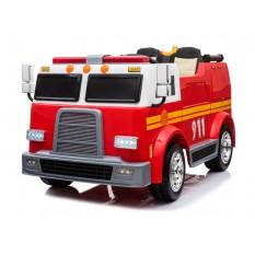 """Kinderfahrzeug - Elektro Auto """"Feuerwehrwagen"""" - Doppelsitzer - 12V10AH Akku,4 Motoren+ 2,4Ghz+Wasserspritze+Sirene+EVA+Ledersitz"""