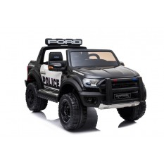 "Kinderfahrzeug - Elektro Auto ""Ford Ranger Raptor"" - lizenziert - Polizei Design - 12V10AH Akku,2 Motoren+ 2,4Ghz+Ledersitz+EVA"