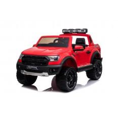 "Kinderfahrzeug - Elektro Auto ""Ford Ranger Raptor"" - lizenziert - 12V10AH Akku,2 Motoren+ 2,4Ghz+Ledersitz+EVA -Rot"