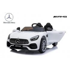 "Kinderfahrzeug - Elektro Auto ""Mercedes AMG GT Doppelsitzer M"" - lizenziert - 12V, 2 Motoren- 2,4Ghz, MP3, Ledersitz+EVA"