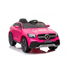 "Kinderfahrzeug - Elektro Auto ""Mercedes GLC"" - lizenziert - 12V Akku,2 Motoren+ 2,4Ghz+Ledersitz+EVA-Pink"