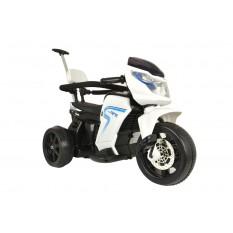 """Elektro Kindermotorrad """"108"""" - Dreirad mit Schiebestange und Pedalen - Weiss"""